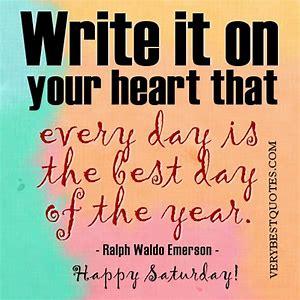 Ralph Waldo Emerson Saturday quote