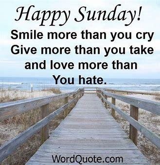 Happy Sunday thought