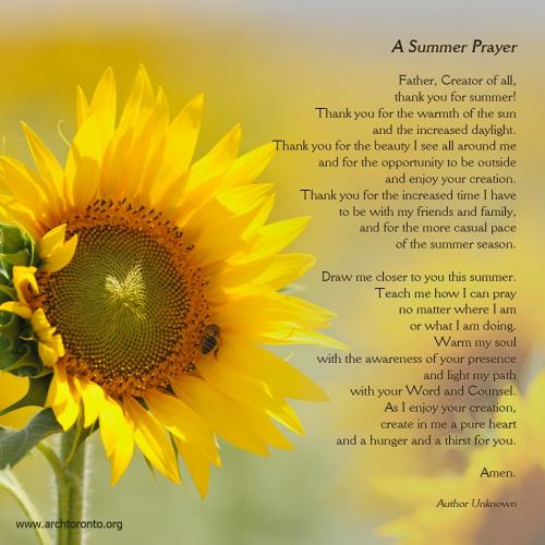 Summer Prayer
