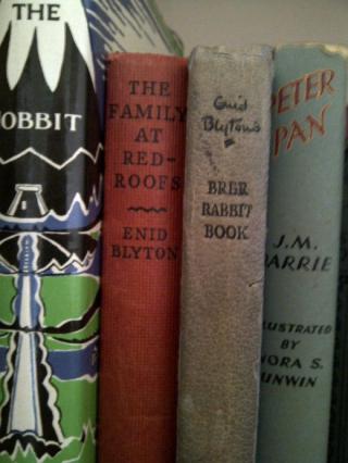 Enid Blyton books on shelf
