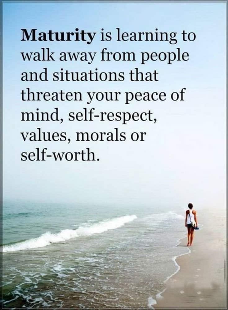 Maturity inspirational quote