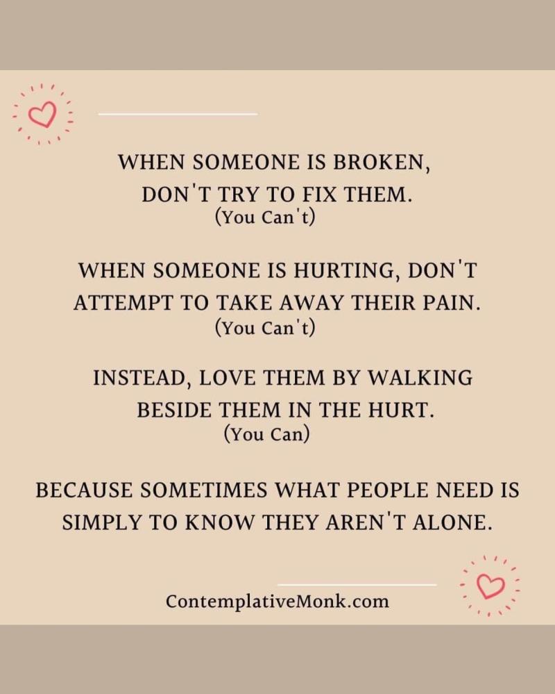 When someone is broken