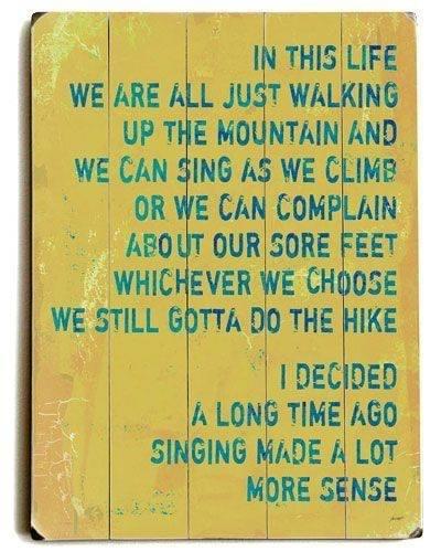 Singing makes more sense