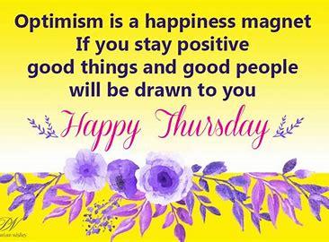 Optimism on a Thursday
