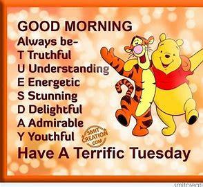 Tuesday Acrostic