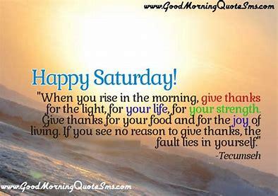 Saturday thanks