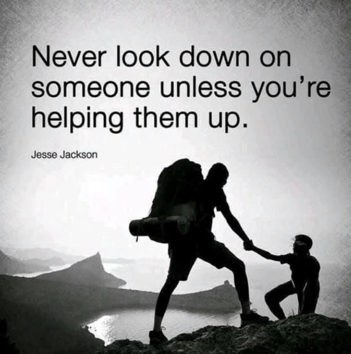 Helping them up