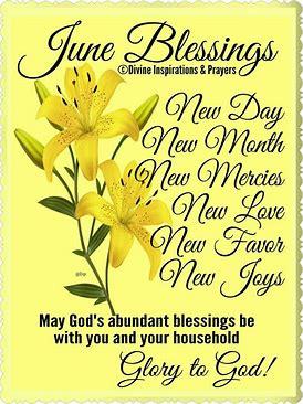 June 1 blessings