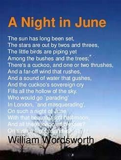A night in June - Wordsworth