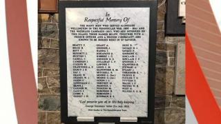 Napoleonic & Peninsula Wars memorial Oct 2020