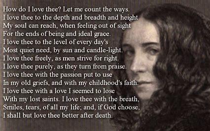 How do I love thee - Elizabeth Barrett Browning