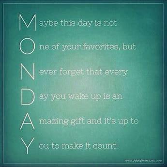 Monday acrostic
