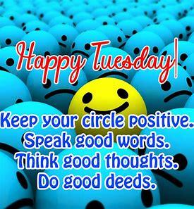Tuesday positive circle