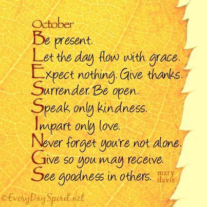October Blessings