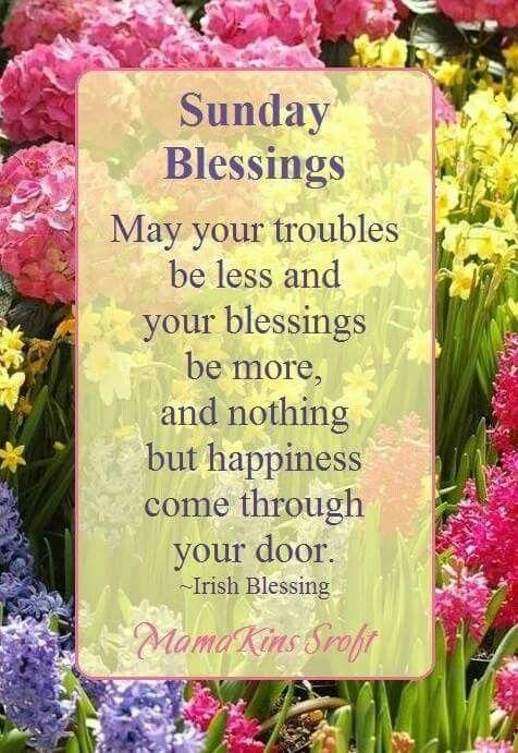 Sunday Irish blessings